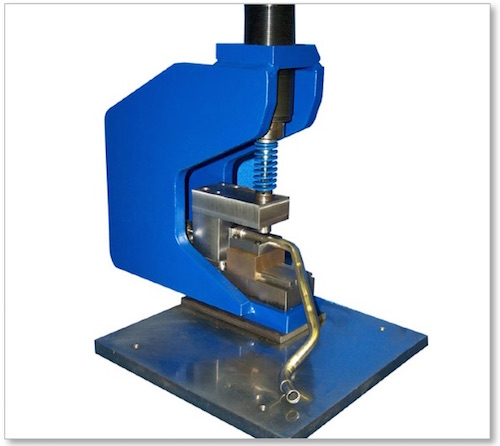 Mandrel Punching Station w: Custom Tube Gauging