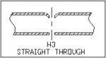 Tube Piercing - H3 Straight Through